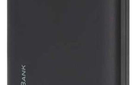 GP RC10AB, záložní zdroj 10000 mAh, USB, integrovaný USB kabel, černá - 1604306000