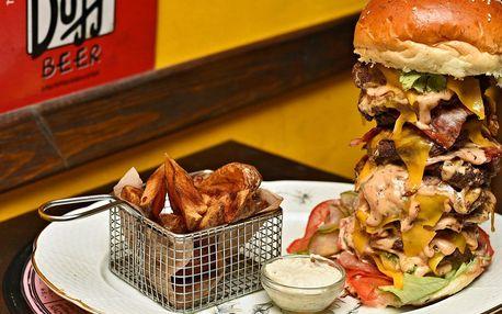U jednoho stolu s obry - gigantické burger menu