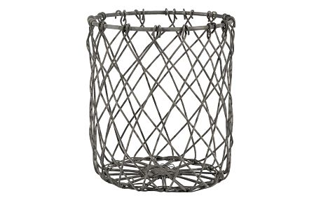 IB LAURSEN Mini drátěný košík, šedá barva, zinek