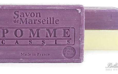 LE CHATELARD Mýdlo Marseille 100 g - jablko a černý rybíz, fialová barva