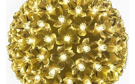 Nexos 5973 Vánoční dekorace - LED světelná koule - teple bílá