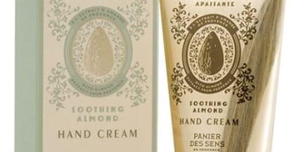 Panier des Sens Vyživující krém na ruce 75 ml - mandle, zlatá barva, krémová barva, kov, papír