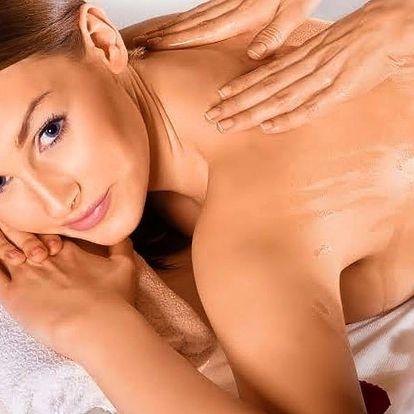 Až 60minutová relaxační aromatická olejová masáž
