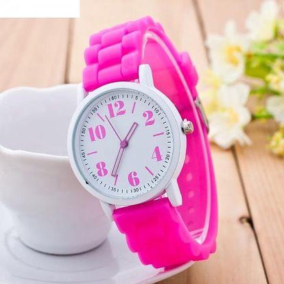 Silikonové analogové hodinky s nebo bez krabičky - různé barvy