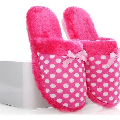 Papuče s puntíky D-12PI 38-39