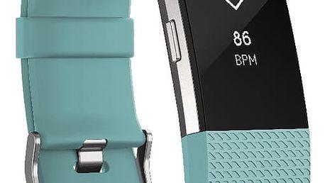 Fitbit Charge 2, S, modrozelená - FB407STES-EU