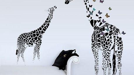 Samolepka na zeď - Abstraktní žirafy - dodání do 2 dnů