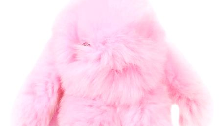 Fashion Icon Přívěsek na kabelku Králík pompon