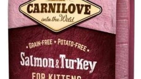 Granule Brit Carnilove Cat Salmon & Turkey for Kittens HG 6 kg + Doprava zdarma