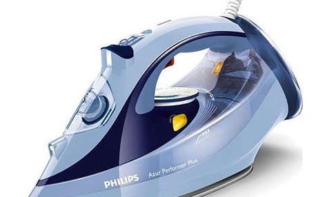 Žehlička Philips Azur Performer Plus GC4526/20 modrá