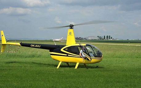 Vyhlídkový let vrtulníkem Robinson, Brno, 3 osoby, 15 minut