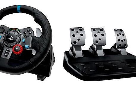 Volant Logitech G29 Driving Force pro PS3, PS4, PC + pedály (941-000112) černý + DOPRAVA ZDARMA