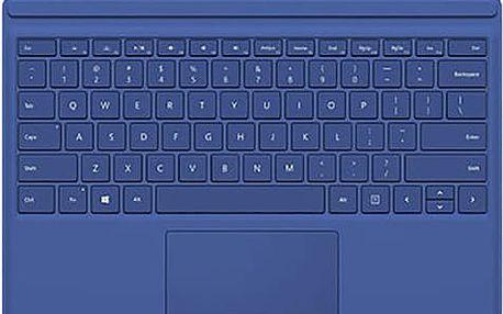 Microsoft Surface Pro 4 Type Cover, modrá - QC7-00096