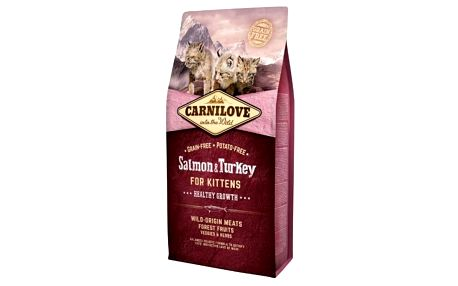 Granule Brit Carnilove Cat Salmon & Turkey for Kittens HG 6 kg + Doprava zdarma