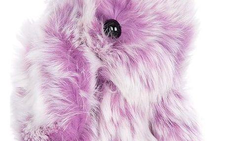 Fashion Icon Přívěsek na kabelku Králík pompon bílo-barevný