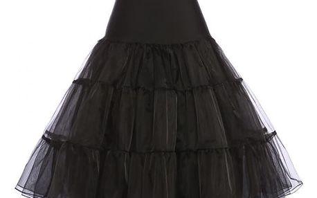 Dámská sukně v rockabilly stylu - černá, velikost 4