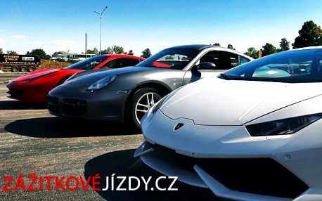 15–30minutová zážitková jízda ve supersportu Ferrari, Lamborghini nebo Porsche po celé ČR
