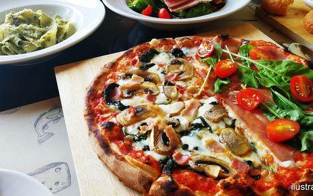 Pizza, pasta či risotto a limča na Budějovické