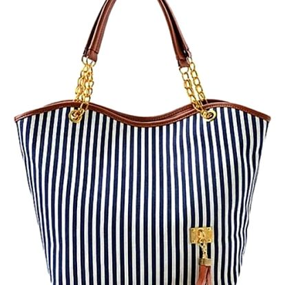 Dámská kabelka s moderními proužky - dodání do 2 dnů
