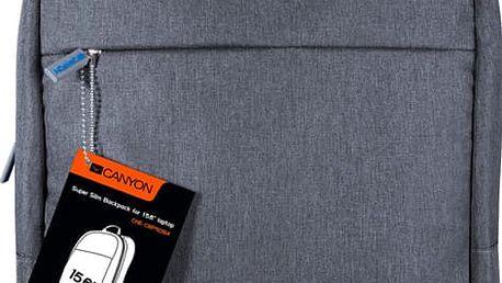 Canyon supertenký minimalisctický batoh pro 15,6'' laptop - CNE-CBP5DB4 + CANYON myš CMSW01, fialová v ceně 449 Kč