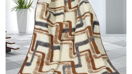Bellatex Vlněná deka Geometrie, 155 x 200 cm