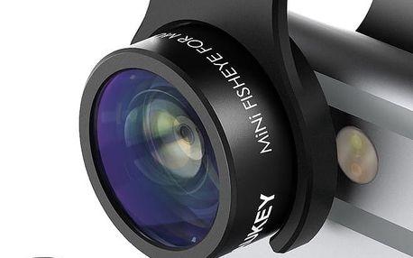 Aukey Optic iPhone Camera Lens, 160° Fisheye Lens + 20x Macro Mini Clip-on - PL-A2