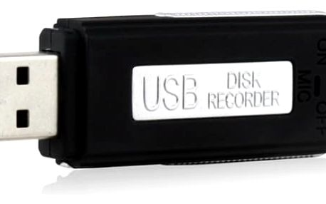 USB diktafon s 8 GB flash diskem