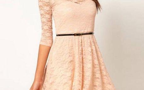 Nádherné šaty s aplikací