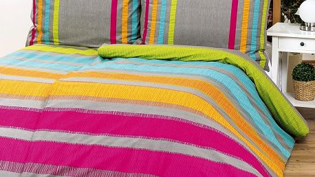 Bedtex povlečení ELLE oranžové bavlna, 220 x 200 cm, 2 ks 70 x 90 cm