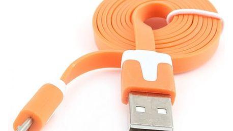 Redukce USB / Micro USB - plochý kabel (1 - 3 m)