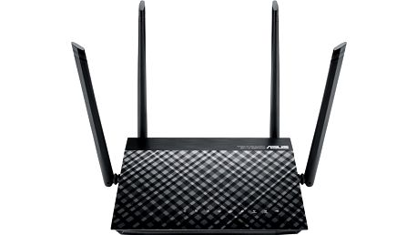 ASUS RT-AC1200 - 90IG0211-BM3D00 + Webshare VIP Silver, 1 měsíc, 10GB, voucher zdarma + Myš Asus ROG Sica černá v hodnotě 1399,- k routeru Asus zdarma