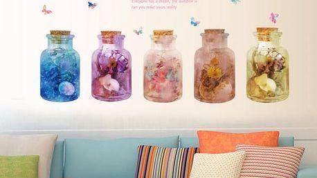 Samolepka na zeď - květinový sen
