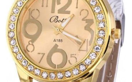 Náramkové hodinky v retro stylu s kamínky - 6 barev