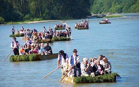 Splaveni řeky Dunajec v Pieninách na voru včetně bohatého programu v penzionu Eland