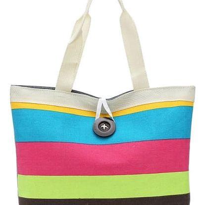 Pruhovaná plážová taška