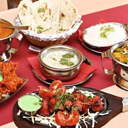 Indické tradiční 3chodové menu pro dva v restauraci Kathmandu