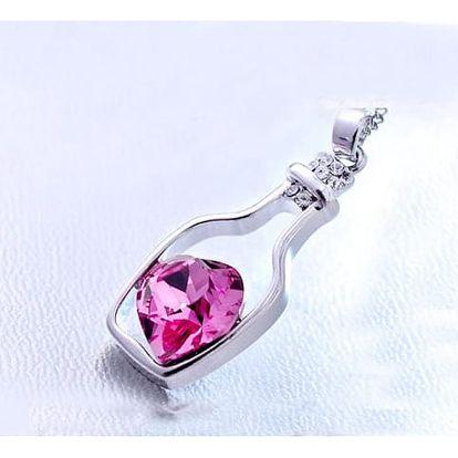 Elegantní náhrdelník s láskyplným vzkazem v láhvi - dodání do 2 dnů