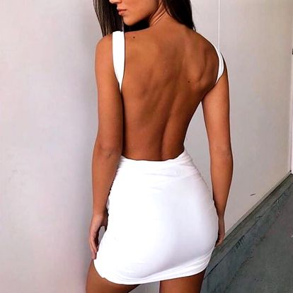 Šaty s hlubokým výstřihem na zádech - 6 barev
