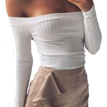 Dámské pohodlné tričko s odhalenými rameny - 6 barev