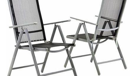 Zahradní sada 2 skládací židle GARTHEN - černá