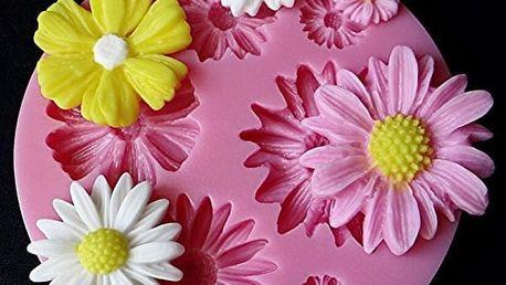 Forma na ozdoby na dort - květiny