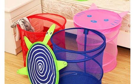 Síťový koš na hračky a oblečení - modrá