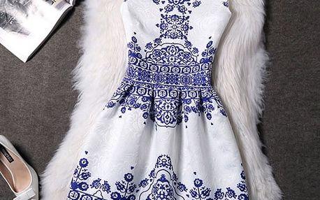 Elegantní šaty s originálními motivy - Varianta 11 - Velikost 1