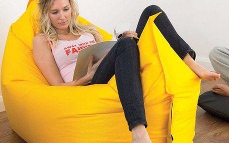 Nafukovací vak Lazy bag dvouvrstvý - Nafukovací vak Lazy bag dvouvrstvý - žlutý