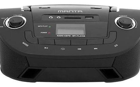 Boombox přehrávač Manta MM 208, černý