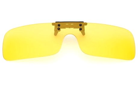 Polarizační klip na dioptrické brýle - noční pohled