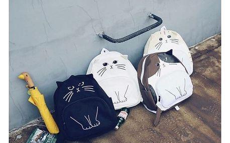 Batoh v podobě kočky s ušima a ocáskem - více druhů