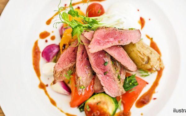 Steak s vyladěnou přílohou v oblíbeném Plauditu