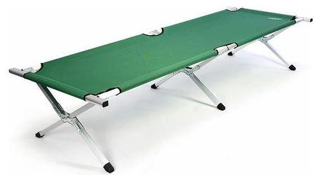 Divero 35118 Přenosná hliníková skládací postel 210 x 64 x 42 cm - zelená
