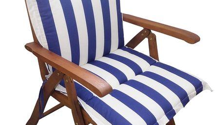 Polstr Námořní na polohovací židli (Polstr na zahradní křeslo)